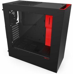 NZXT Source 340 - Black/Red Window