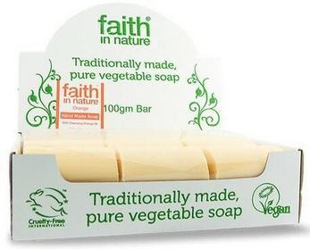 Faith In Nature Organiczne Mydło w kostce odświeżające z pomarańczą, 18sztuk x 100g -
