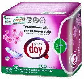 Gentle Day (podpaski, tampony, wkładki) Wkładki higieniczne Z PASKIEM ANIONOWYM