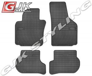 FROGUM Dywaniki gumowe czarne SEAT Leon II 2005-2012 | Toledo 2004-2009 | SKODA Octavia II 2004-2013 | Skoda Yeti od 2009 | VW Golf V VI od 2003 | VW Jetta 2005-2010 | VW Scirocco od 2007
