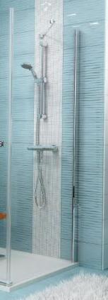 Ravak 9SPA0A00Z1SMART LINE Ścianka boczna SMPS-100 Prawe chrom, Transparent