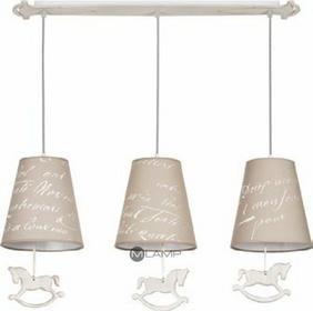 Nowodvorski LAMPA wisząca PONY 6380 dekoracyjna OPRAWA abażurowa listwa dziecięc