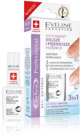 Eveline Nail Therapy Odżywka wybielająca do paznokci 3w1 12ml