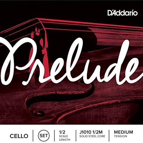 D'Addario j10101/2m Prelude Cello komplet strun z włókna węglowego nierdzewna/nikiel 1/2Medium J1010 1/2M
