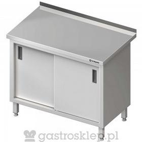 Stalgast Stół przyścienny z drzwiami suwanymi 1200x600x850 mm | 616126