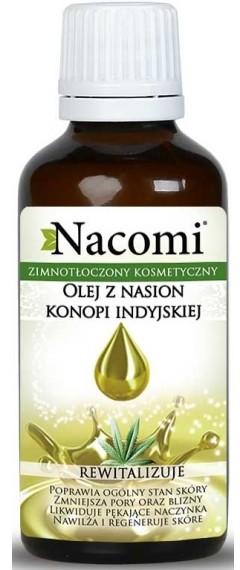 Nacomi olej z konopi indyjskiej ECO 50ml ciemna butelka