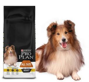 Purina Pro Plan All Size Adult Light/Sterilised sucha karma dla psa bogata w kurczaka 14kg