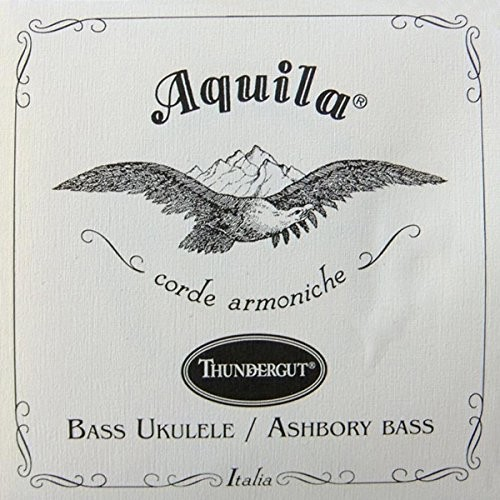 Aquila Komplet Ukulele 4string  68u Bass 68u, Thunder dobrze, GDAE, wysoka stabilność, dzięki słuchawkom pracującym Biały 68U
