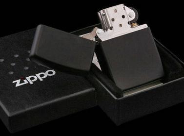 Zippo Black Matte z218