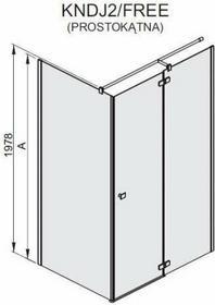 Sanplast KNDJ2/FREE 120x80 profil chrom/srebrny błyszczący szkło W0 600-260-0660-42-401