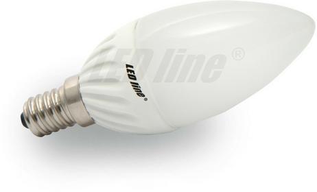 LED Line Żarówka LED CANDLE E14 230V 4W biała ciepła 242625