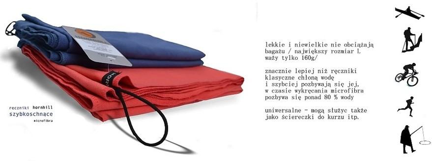 HORNHILL Ręcznik Z MICROFIBRY SZYBKOSCHNĄCY ROZ. L 130x80