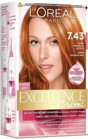 Loreal Excellence Creme 7.43 Blond miedziano-złocisty