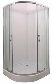 Durasan Parma Clear NK 90 90x90 szkło transparentne + brodzik