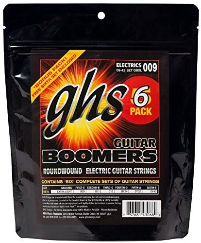 ghs GHS GB XL 5Pack boomers String Extra Light (opakowanie  szt.) GBXL-5