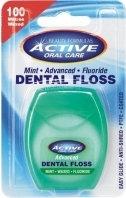 Beauty Formulas ACTIVE ADVANCED Nić dentystyczna udoskonalona miętowa, woskowana z fluorem