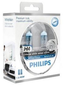 Philips WhiteVision H4 12V 60/55W + W5W