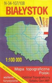Białystok Supraśl Wasilków mapa 1:100 000 WZKart