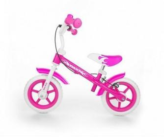 Milly Mally Rowerek biegowy Dragon z hamulcem różowy