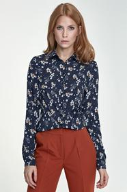 Nife Delikatna bluzka B70 kwiaty/granat