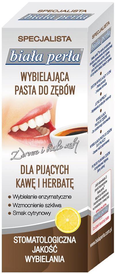 Vitaprodukt Sp. z o.o. Biała Perła PASTA DLA PIJˇCYCH KAWĘ I HERBATĘ 75 ml