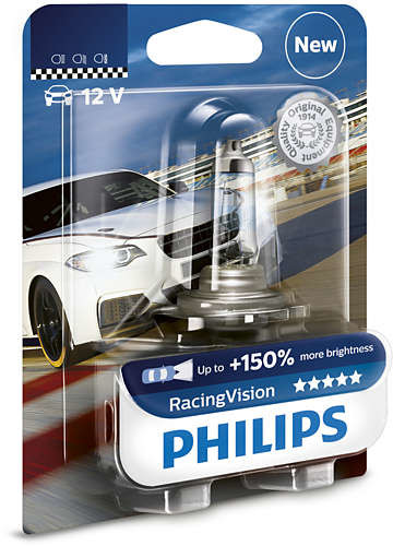 Philips PHILIPS H4 12V 60/55W P43t-38 Racing Vision PH-12342RVB1 8719018000224