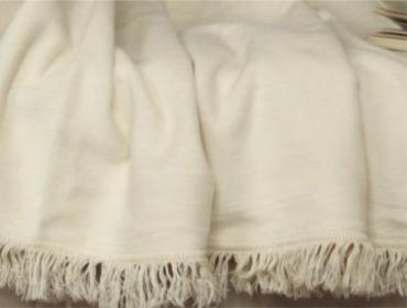 Laris Polska Koc bawełniany jednobarwny Moreno 150 x 200