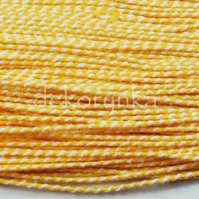 sznb01 3m Sznurek bawełniany 1,5mm - SUPER JAKOŚĆ biało-żółty