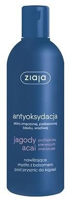 Ziaja antyoksydacja Jagody Acai Nawilżające mydło z balsamem pod prysznic do kąpieli 300ml