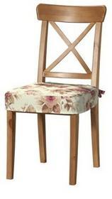 Dekoria Siedzisko na krzesło Ingolf Mirella bordowo-beżowe róze na kremowym tle