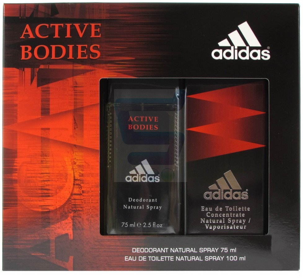 adidas Active Bodies Zestaw Dezodorant w atomizerze + Woda toaletowa