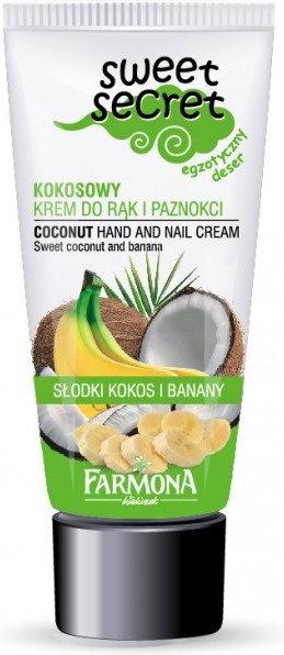 Sweet Secret Kokosowy krem do rąk i paznokci 100ml