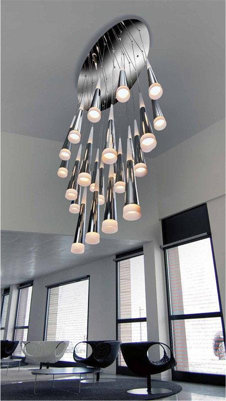 Azzardo Oświetlenie Lampa LED wisząca Brina 24 Chrome (LP9003-24)