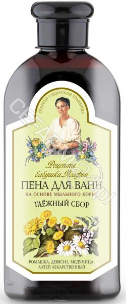 EUROBIO LAB Babuszka Agafia pianka do kąpieli na bazie korzenia z mydlnicy lekarskiej zioła tajgi 500 ml