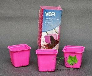VEFI Doniczki plastikowe 30 szt. różowe