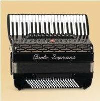 Paolo Soprani Professionale 120/4-P 41/4/11+M 120/5/7 Piccolo akordeon (czarny)