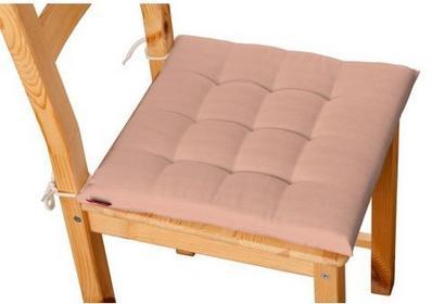 Dekoria Siedzisko na krzesło Karol na krzesło Taffeta łososiowy w delikatne prążki