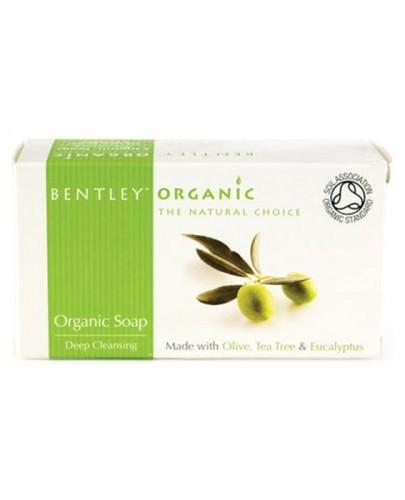 Bentley Organic Mydlo z oliwek, olejku herbacianego i eukaliptusa - 150 g