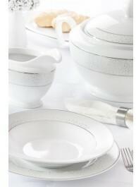 Chodzież Zestaw obiadowy dla 12 osób porcelana MariaPaula Snow