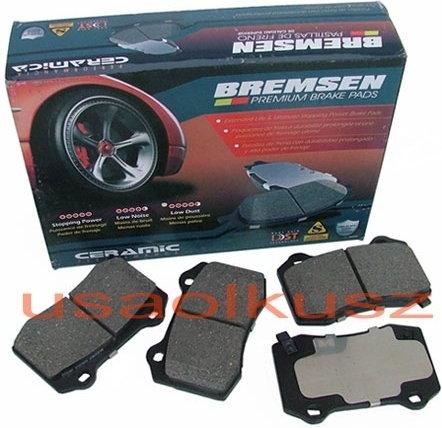 BREMSEN Klocki hamulcowe tylne CERAMICZNE Dodge Charger SRT 6,1 -