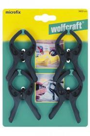 Wolfcraft ZESTAW 4 ściskÓW SPRĘŻYNOWYCH MICROFIX 3432 000 3432000