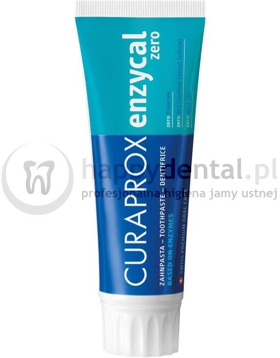 Curaden CURAPROX Enzycal 0ppmF ZERO 75ml - delikatna, profilaktyczna pasta do zę