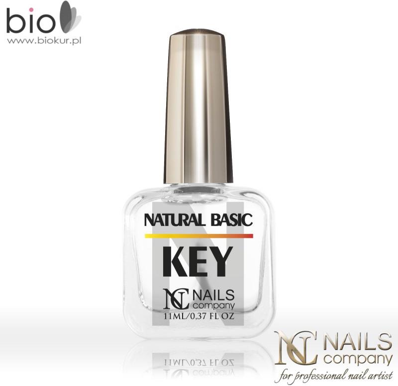 Basic NATURAL KEY do maksymalnego odtłuszczenia naturalnej płytki Nails Company 11 ml