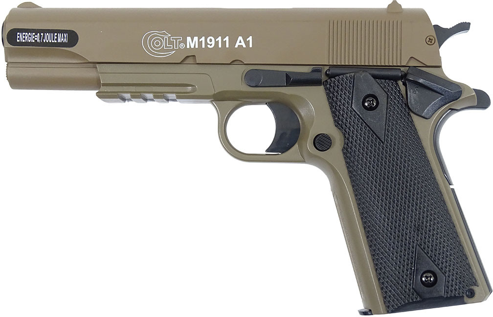 Opinie o CyberGun Pistolet ASG Colt 1911A1 HPA Metal Slide - tan (180126)