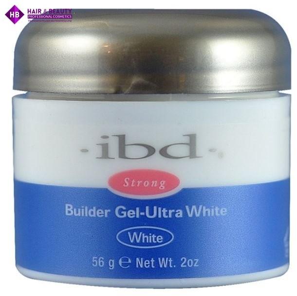IBD Hard Gel Builder Ultra White Żel budujący biały 56g