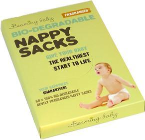 Beaming Baby Biodegradowalne zapachowe worki na zużyte pieluszki Pieluchy jednorazowe 60