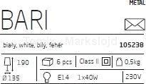 Markslojd Zwis sufitowy 1pł BARI 105240