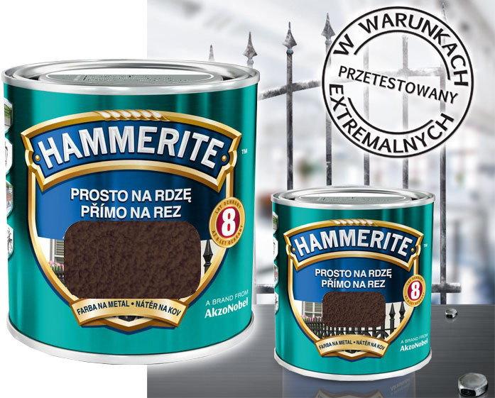 Hammerite Farba Farba antykorozyjna 2.5L Brązowywy młotkowy