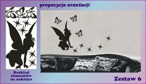 Motylki i wróżka zestaw nr 6