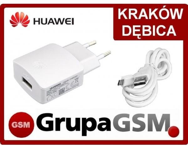 Huawei Ładowarka sieciowa HW-050100E3W + Kabel kolor biały Y6 P6 P7 P8 Lite P9 Honor 4 4x 5x 7 Holly ŁAD HUAW 050100E2W